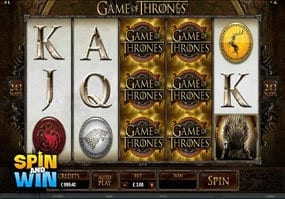 Game of Thrones Slots Review on spin and win
